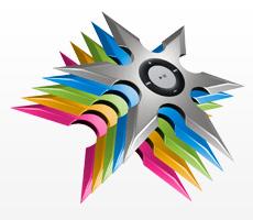 Cores do iPod ninja