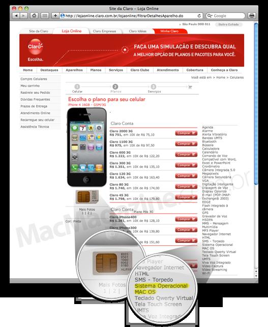 Erros da Claro no iPhone 4
