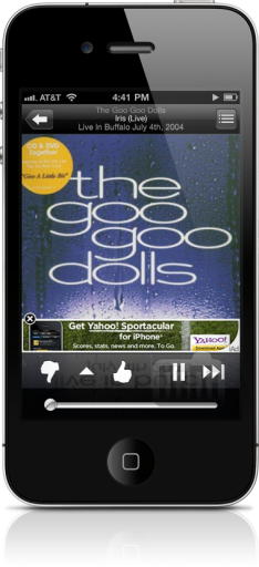 iAd do Yahoo! num iPhone
