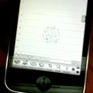 Newton OS rodando em um iPhone