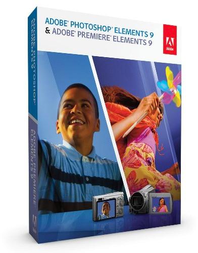 Caixa do Photoshop Elements 9 e do Premiere Elements 9