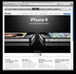 Página do iPhone 4 no Brasil