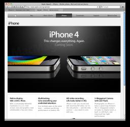 Página do iPhone 4 no Egito