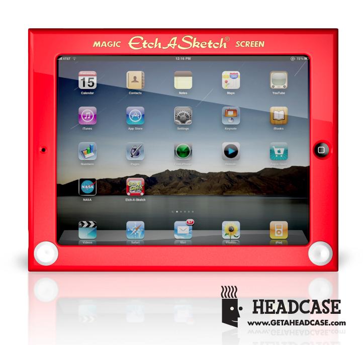 Case Etch A Sketch, da Headcase, para iPad