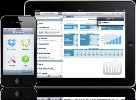 Dropbox no iPhone e no iPad