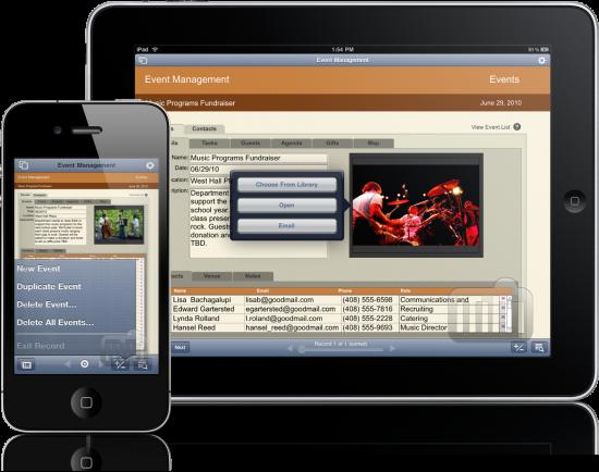 FileMaker Go no iPhone e no iPad