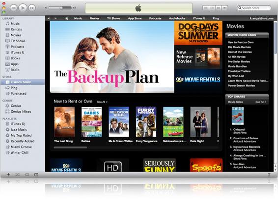 Filmes na iTunes Store