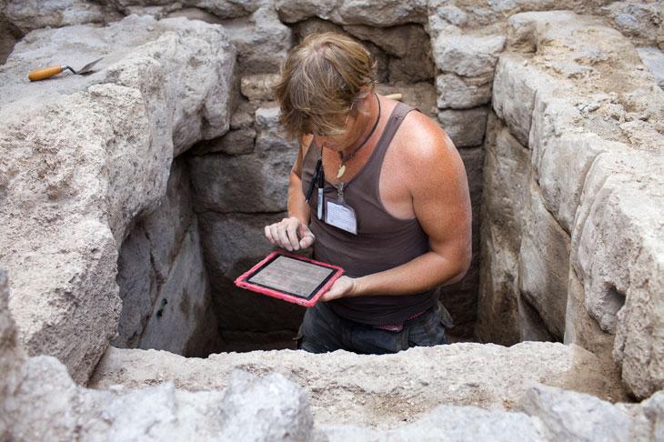 iPad nas ruínas de Pompeia