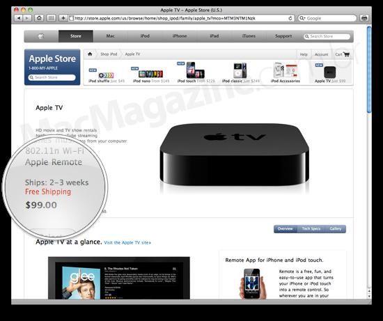 Entrega do Apple TV