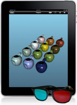 iRhino 3D e óculos num iPad