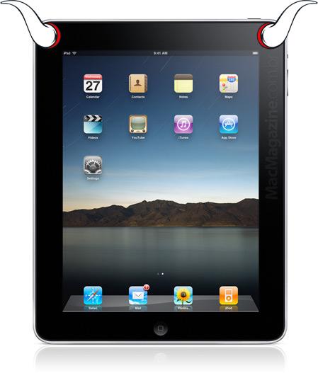iPad com chifres de Diabo