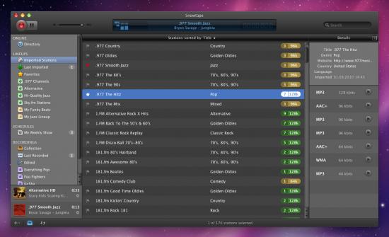 Snowtape para Mac OS X