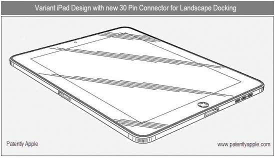 Patente de iPad com dois docks