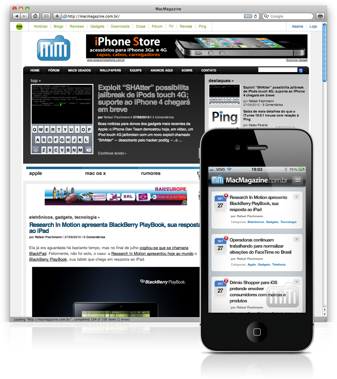 MacMagazine no WPtouch Pro