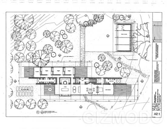 Plano da casa de Steve Jobs