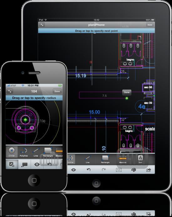 AutoCAD WS no iPhone e no iPad