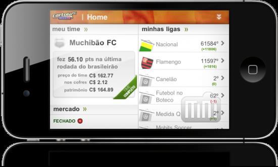 Cartola FC no iPhone