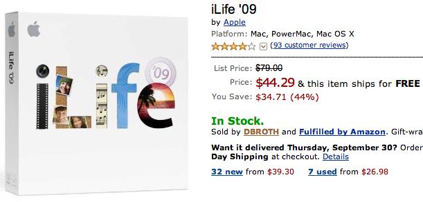 iLIfe 09 com desconto na Amazon.com