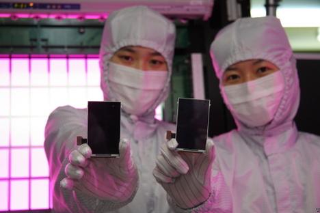 Telas AMOLED da Samsung