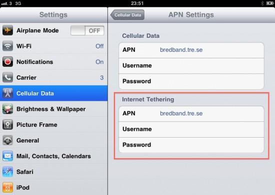 Tethering no iPad - iOS 4.2b2