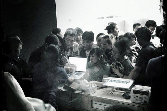 Tumulto em loja da Apple na China
