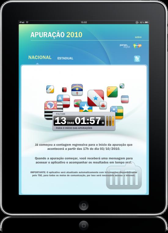 Apuração 2010 no iPad