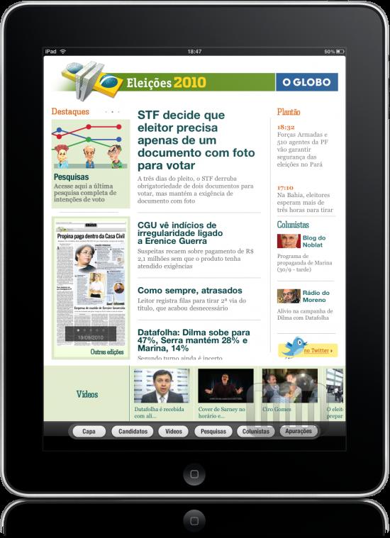 O Globo - Eleições 2010 no iPad