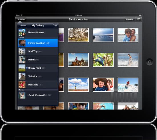 MobileMe Gallery no iPad