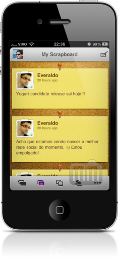 Yogurt para Orkut no iPhone