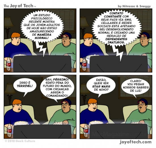 Joy of Tech - Pena da proxima geracao