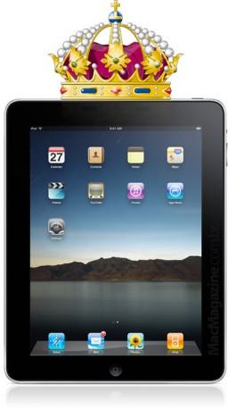 iPad com coroa de rei