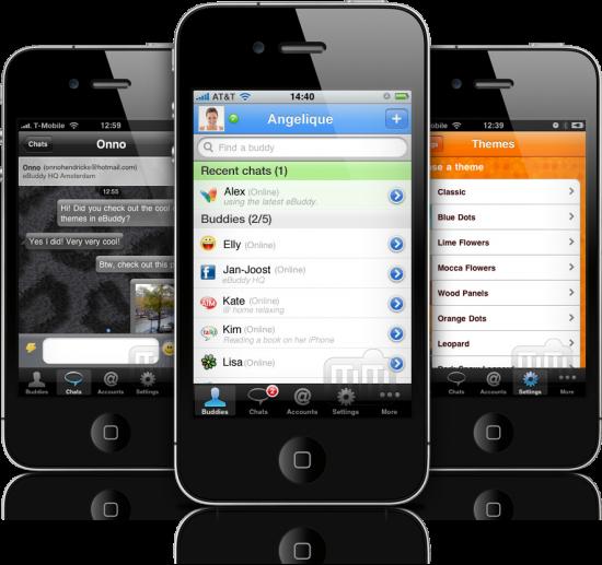 eBuddy Pro Messenger em iPhones