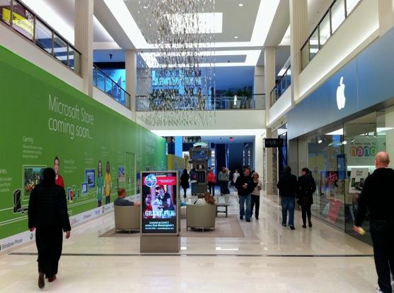 Lojas da Microsoft e da Apple no Mall of America