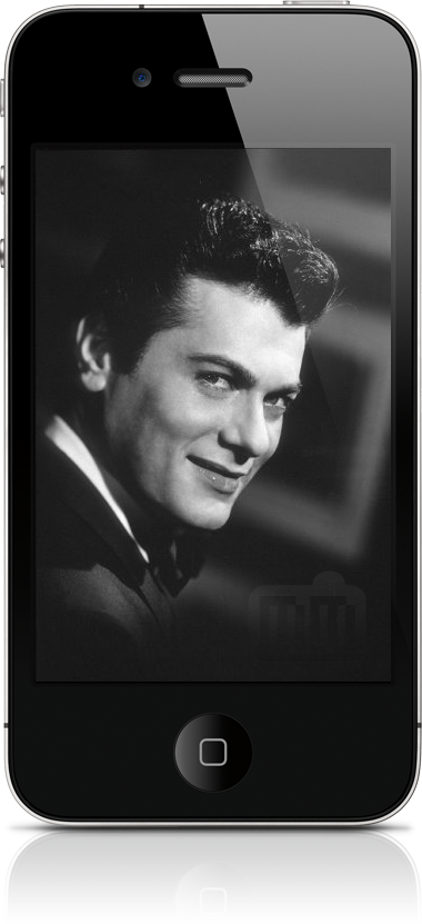 Ator Tony Curtis num iPhone