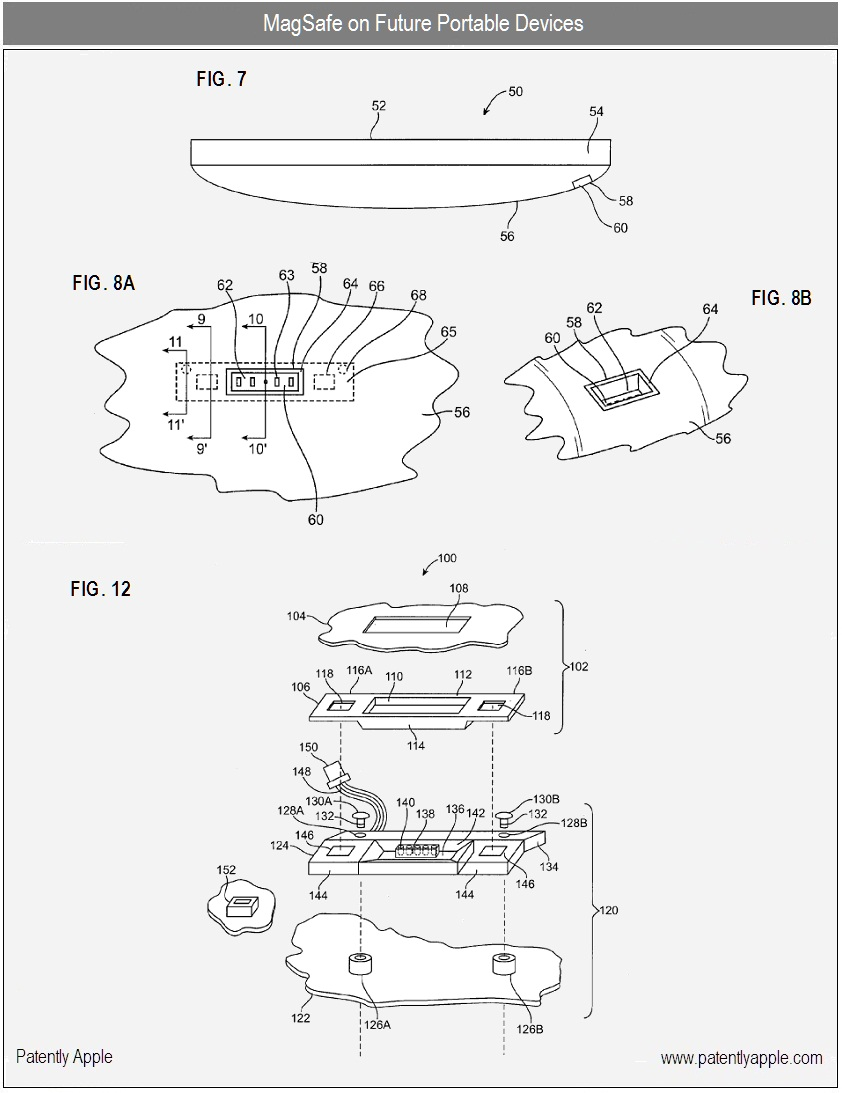 Patente de MagSafe em gadgets pequenos