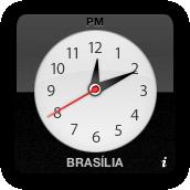 Widget Relógio (Clock) do Dashboard