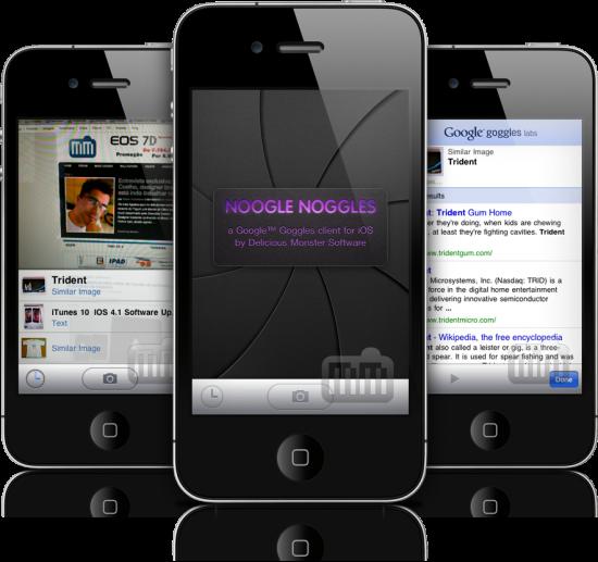 Noogle Noggles em iPhones