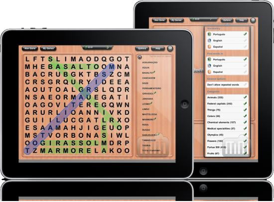 Word Hunter HD em iPads