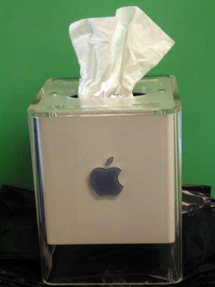 Caixa de lenços de papel feita com Cube G4