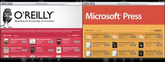 Editoras OReilly e Microsoft Press na iBookstore