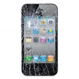 iPhone 4 com frente quebrada