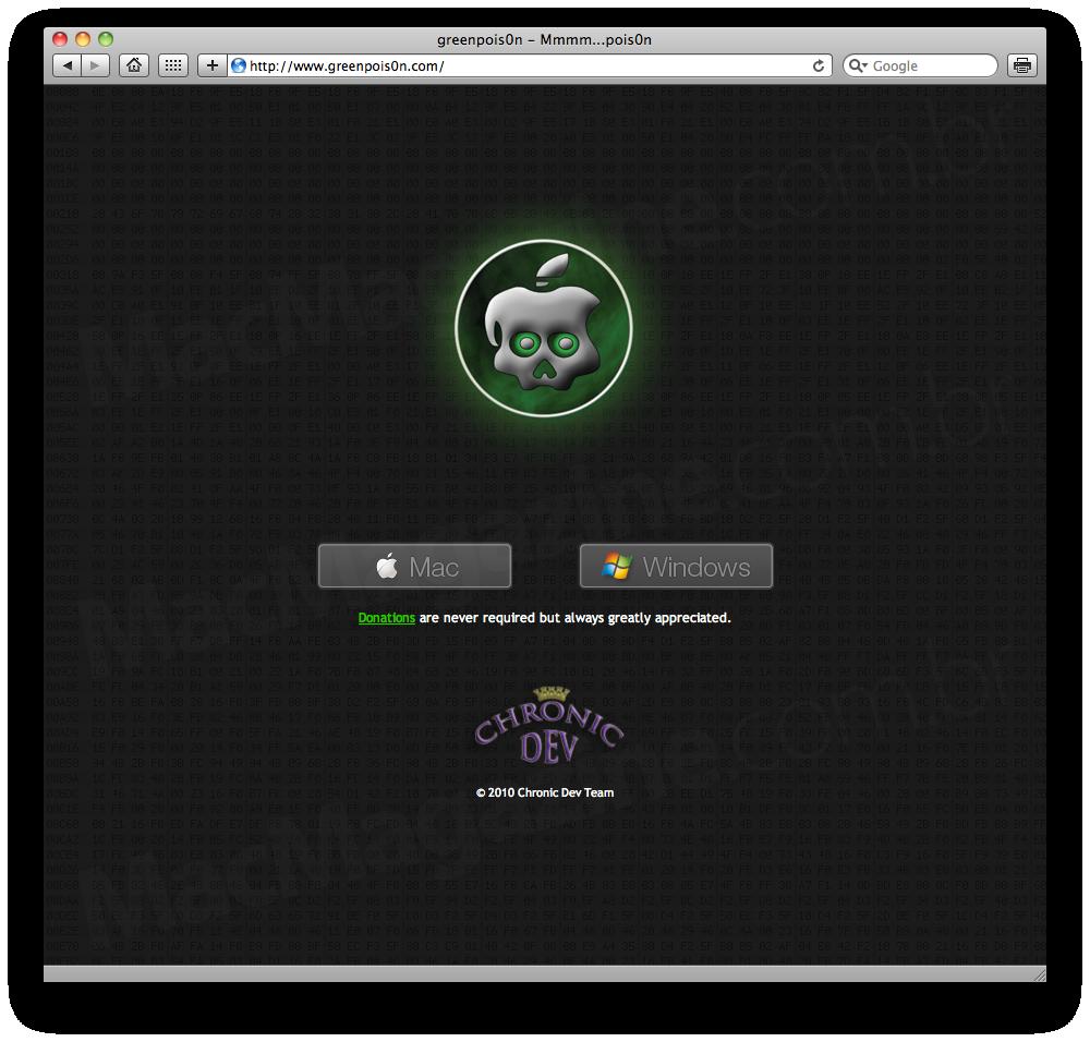 Site oficial da greenpois0n