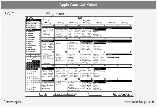Patente do iCal - Patently Apple