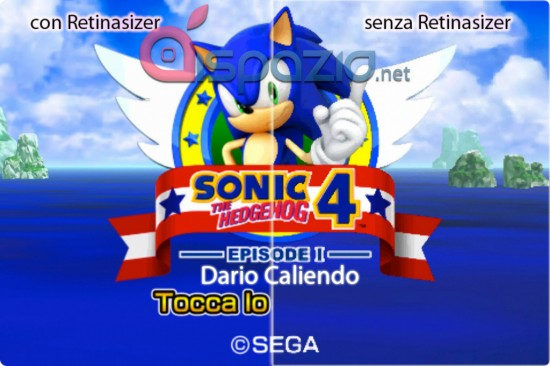 Sonic 4 no Retinasizer