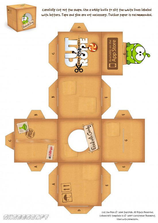 Paper toy do Cut the Rope