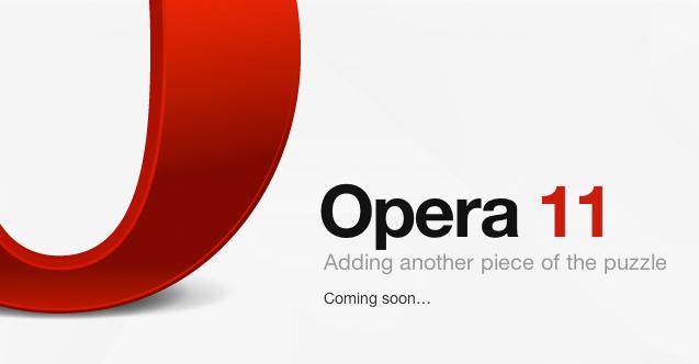 Opera 11 chegando em breve
