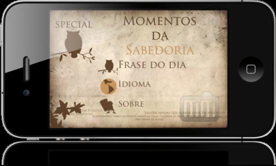 Momentos da Sabedoria Special no iPhone