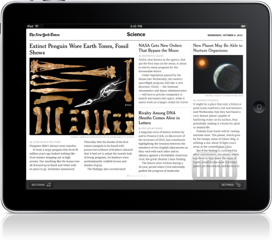 New York Times for iPad