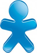 Mascote da Vivo azul