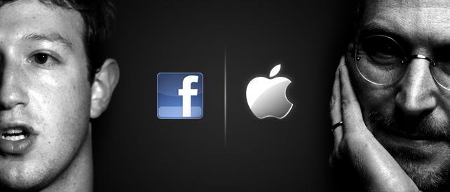 Mark Zuckerberg (Facebook) e Steve Jobs (Apple)